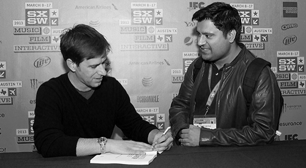 Neal Cabage Signing Book at SXSW